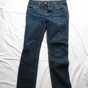 Left Field Jeans 33W Selvedge USA Button Fly VG Co